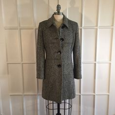 Charles Klein - Pea Coat Classic black and white pea coat. Sleek fitting with side pockets. $40 or make me a reasonable offer. Charles Klein Jackets & Coats Pea Coats