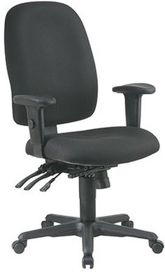 Work Smart 43819-231 Ergonomics Chair with Ratchet Back and Adjustable Soft Padded Arms