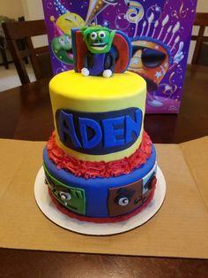 Teen Titan Cake Fondant Cakes, Birthday Cake, Teen, Desserts, Food, Tailgate Desserts, Deserts, Birthday Cakes, Essen