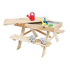 kids picknick table with sand box inside (idea: a compartment for sand in our outdoor table!) | Outdoor Life Products