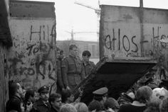 The Berlin Wall being torn down - Nov. 10, 1989 #photography