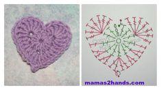 patrones de corazones de ganchillo - Buscar con Google