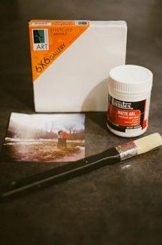 DIY::Canvas Photo Tutorial