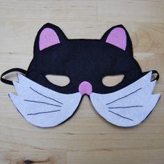 Globers Máscaras de animales en fieltro para niños. Cat. Cumpleaños y fiestas. Cool parties. Animals felt masks. Kids. Cat