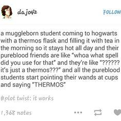 Thermos! #muggleborns