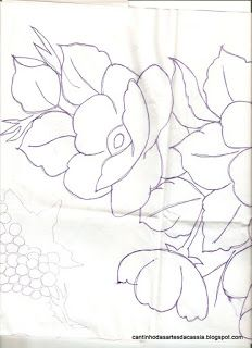 Cantinho das Artes da Cássia: Bico de crochê panos de prato com papoula e lírio