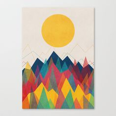 Uphill Battle Stretched Canvas by Budi Satria Kwan - $85.00