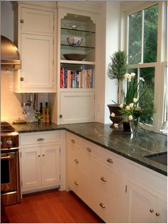 Supreme Kitchen Remodeling Choosing Your New Kitchen Countertops Ideas. Mind Blowing Kitchen Remodeling Choosing Your New Kitchen Countertops Ideas. Green Kitchen Countertops, New Countertops, Kitchen Countertop Materials, Kitchen Cabinets, White Cabinets, Corner Cabinets, White Counters, Kitchen Appliances, Cooking Appliances