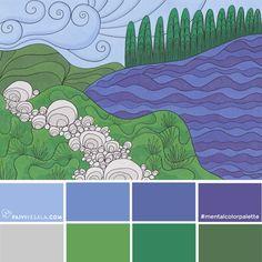 Mental color palette 7 - For headache