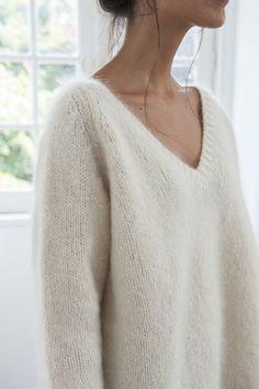 BARBARA pull blanc | white jumper — L'ENVERS