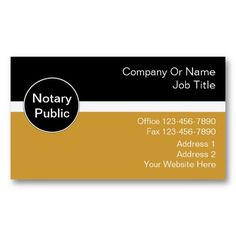 notary business cards - Notary Public Business Cards