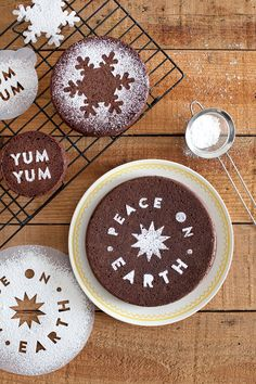 Dress up your baked goods and drinks with this easy DIY stencil!