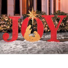 Joy Sign Outdoor Christmas Decoration
