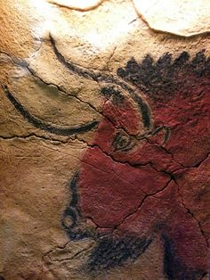 """Paleolithic Cave, Altamira, Spain I want to do a series of van's called """"The Cave"""" With different culture's cave paintings as murals and interior to match, bison leather seats, slate floors, bone, ect..... #Cantabria #Spain"""