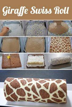 giraffe swiss roll cake