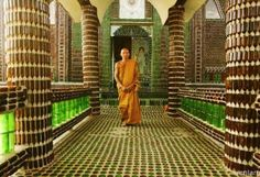 Buddhist Temple Built from Beer Bottles( know this isn't bottle trees but it still is amazing using bottles)