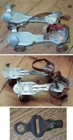 Clamp-on roller skates with a key...We were always hunting a lost key to our skates, lol.