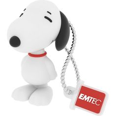 EMTEC - Snoopy 8GB USB 2.0 Flash Drive - White - Front Zoom