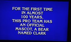 """This clue on the Cubs mascot totally stumped """"Jeopardy!"""" contestants #baseball #cubs #trivia #jeopardy #sports"""