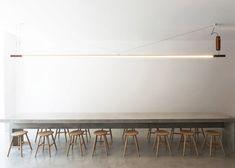 Torafuku restaurant features large communal concrete table