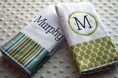 make your own burp cloths | ... cloth diapers into stylish and cute burp cloths, or make your own and