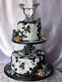 Black and white cake... With gargoyles?