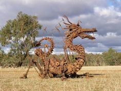 scrap metal dragon. Absolutely love this and would love to have it.