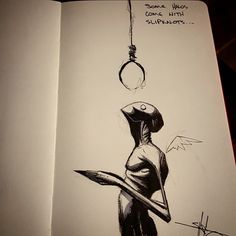 Some halos come with slipknots - Shawn Coss--Dear Shawn , Stay well. Creepy Drawings, Dark Drawings, Creepy Art, Cool Drawings, Arte Horror, Horror Art, Illustrations, Illustration Art, Bd Art