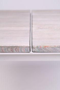 Tabloid Tables (detail), designed by Arjan van Raadshooven, Anieke Branderhorst & Floris Hovers.