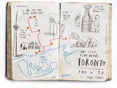 fantastic. oliver jeffers. illustrations for united airlines magazine.