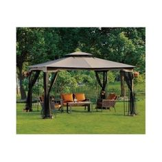 Large Outdoor Gazebo Patio Canopy Pergola With Netting Tent Shade Cover Party #Sunjoy