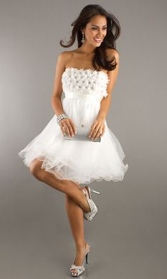 Strapless Short 2012 Prom Dress DJ-6982