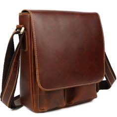 New Men Genuine Leather Shoulder Messenger Crossbody Sling Bag Schoolbag  SATCHEL  fashion  clothing   1c681e6505a4d