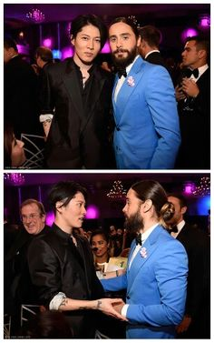 Miyavi and Jared at the Critics Choice Awards 2015