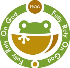 "FROG- Fully Rely On God-- cute! Goes along with ""leap year""."
