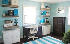 IKEA Share Space - love this beachy blue office theme!