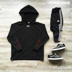 """11.9k Likes, 112 Comments - Outfitgrid™ (@outfitgrid) on Instagram: """"Today's top #outfitgrid is by @ryanbelanger. ▫️#OffWhite #Hoodie ▫️#Vans ▫️#Adidas #TrackPants"""""""