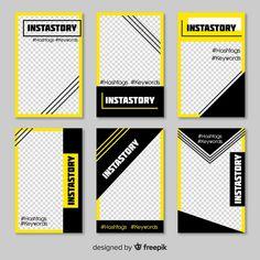 Modelo de histórias do instagram Vetor grátis Instagram Design, Layout Do Instagram, Instagram Story Template, Graphic Design Tips, Graphic Design Posters, Graphic Design Inspiration, Social Media Banner, Social Media Design, Poster Design Layout