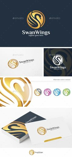 Swan Wings - Logo Template - Animals Logo Templates Download here : http://graphicriver.net/item/swan-wings-logo-template/16161581?s_rank=9&ref=Al-fatih