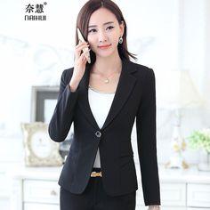 New Fashion 2016 Women Blazer Jacket Suit Casual Candy Coat Jackets Single Button Outerwear Woman Tops Female plus size S-3XL