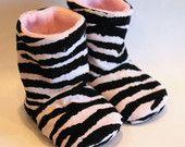Zebra Baby Boots