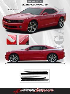 2010-2013 and 2014-2015 Chevy Camaro Legacy Yenko Style Side 3M Vinyl Graphics Stripes Kit fits All Models