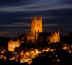 Worcester Cathedral at Night by flash of light on Flickr.