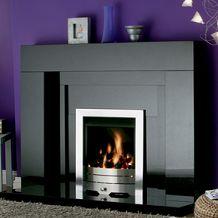 Stonehenge Black Granite Fireplace, From Fireside