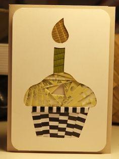 Cand.Selv: Cupcake card (iris folding)