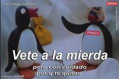 19 Ideas For Memes Love Pingu New Memes, Funny Memes, Reaction Pictures, Funny Pictures, Pingu Memes, Memes Lindos, Cute Love Memes, Spanish Memes, Cartoon Memes
