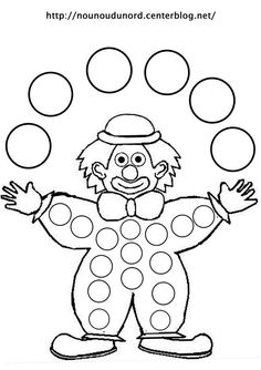 Coloriage clown jongleur dessiné par nounoudunord - Ð¡ Крещенским СочеРClown Crafts, Circus Crafts, Colouring Pages, Coloring Books, Preschool Crafts, Crafts For Kids, Fairy Wings Costume, Theme Carnaval, Clown Party
