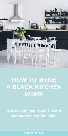 How to make a black kitchen work