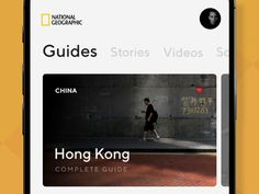 Nat Geo - Travel guides, stories, and videos designed by Hero. Connect with them on Dribbble; Digital Web, Ui Animation, New Mobile, Mobile Ui, Story Video, Mobile App Design, Ui Design, National Geographic, Travel Guides