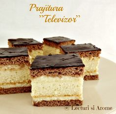 Prajitura Televizor - reteta veche - Lecturi si Arome Tiramisu, Cheesecake, Good Food, Food And Drink, Cooking, Ethnic Recipes, Desserts, Grow Hair, Cami